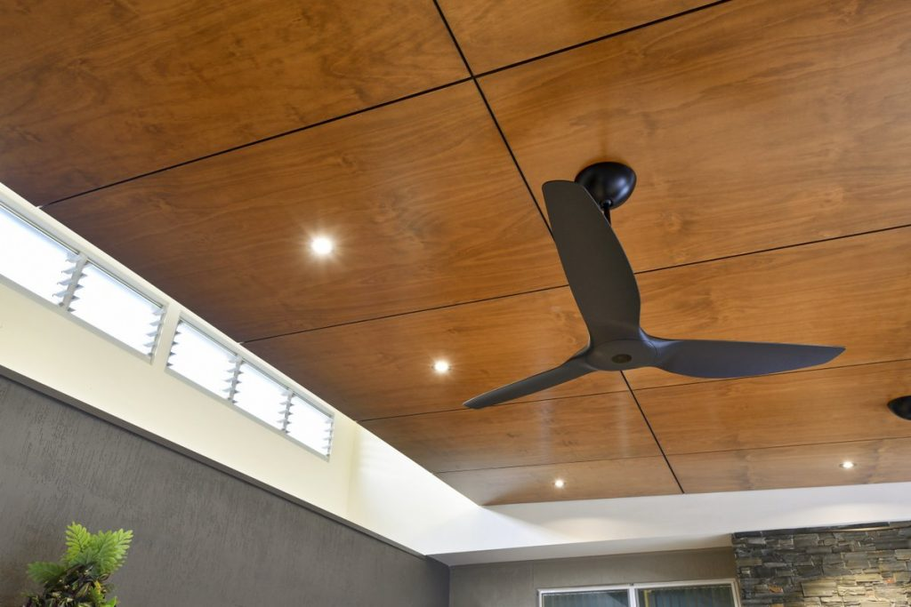 plywood on the ceiling